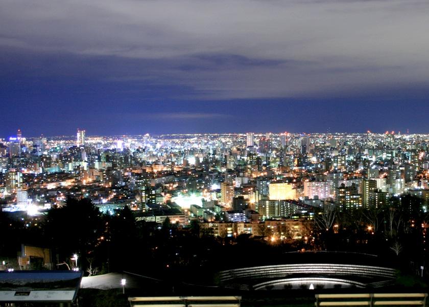 旭山記念公園‐夜景 –